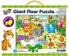 Velké podlahové puzzle – zvířátka vdžungli