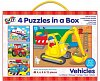 4 Puzzle in a Box - Vehicles