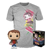 Funko POP & Tee: BTTF- Marty w/Hoverboard- L