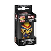 Funko POP Keychain: Marvel Luchadores- Captain Marvel