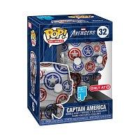 Funko POP Artist Series:Patriotic Age S1- Captain America (32)