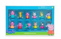 Peppa Pig: 12 figurek s razítkem - Deluxe Box